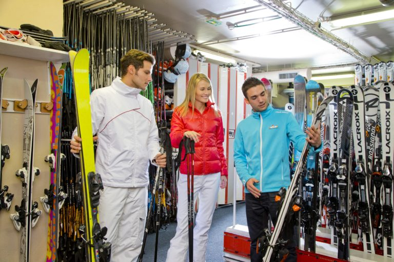 Ski equipment hire and rental shop