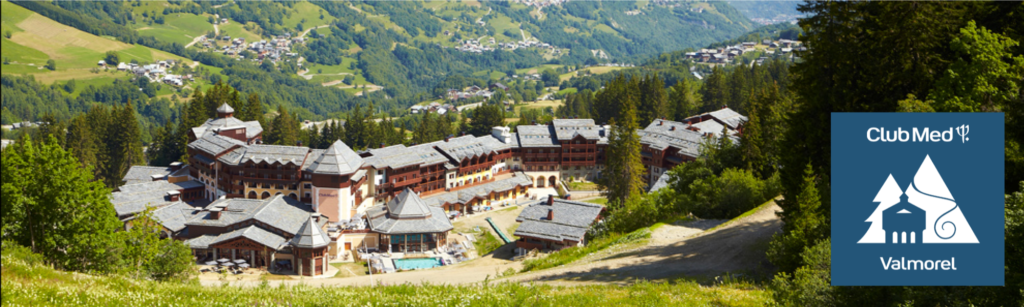 Spring landscape of Club Med Valmorel in France