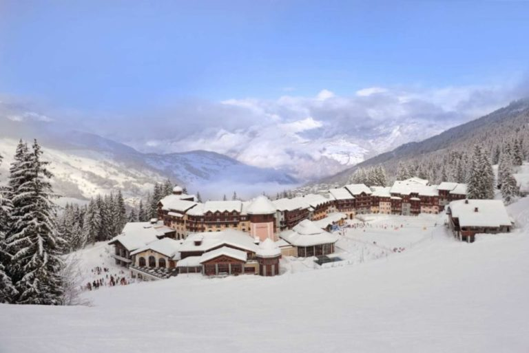 Snowy Landscape of Club Med Valmorel