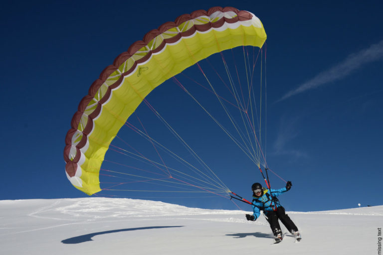 Speed riding or paraglide ski in Val d'Isere Ski Resort, France