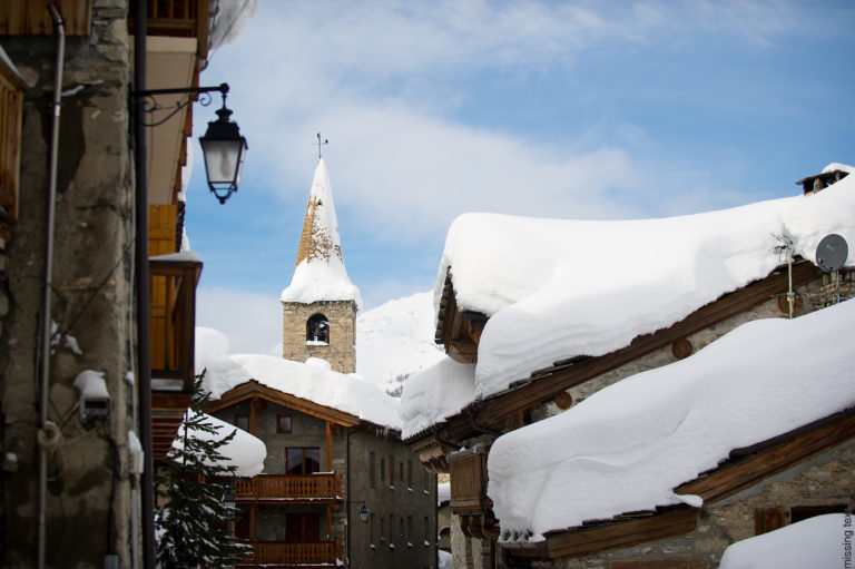 Postcard perfect snow covered village of Val d'Isere Ski Resort, France