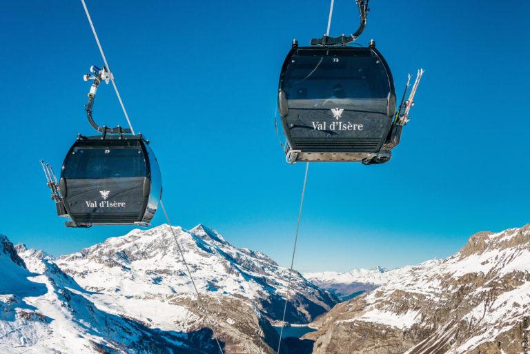 Val d'Isere Gondola Ski lifts, France