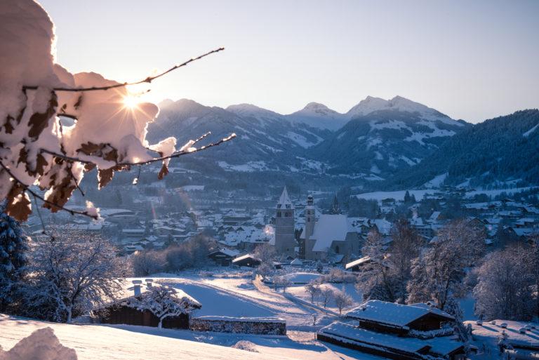 Snow scape in Kitzbuhel or Kitzbühel,, Austria