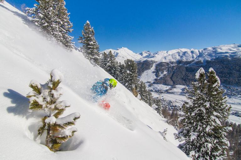 Down hill skier Livigno, Italy