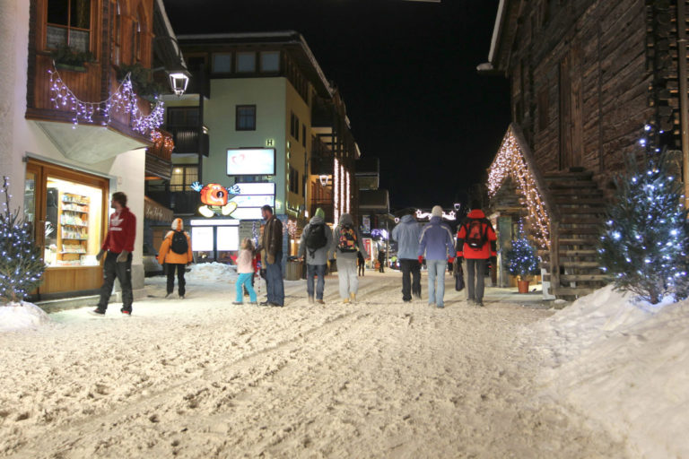 Duty free shopping in the village of Livigno Italy