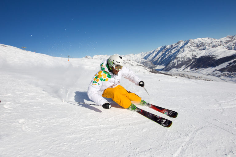 Alpine skiing in Livigno Italy
