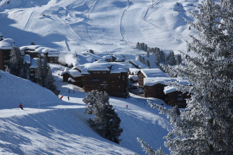 Belle plagne haut station, France