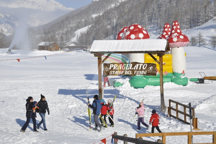 Children's playground in Pragelato Vialattea Italy