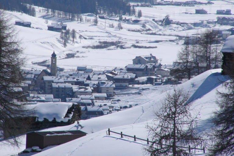 Landscape of the Village of in Livigno Italy