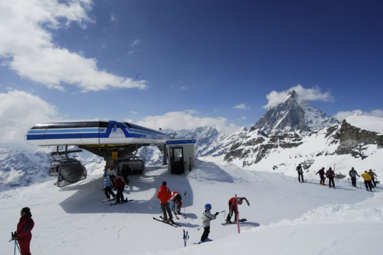 Top of ski lift Cervinia, Italy