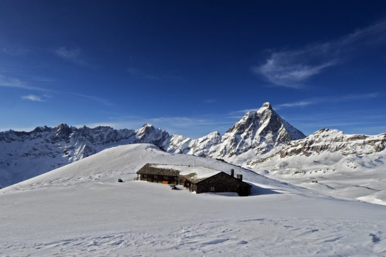 Snow landscape Cervinia, Italy