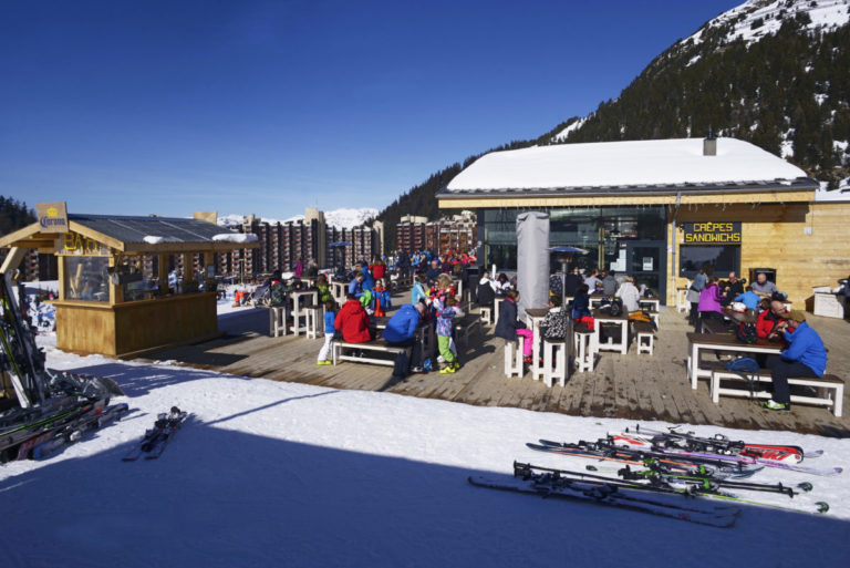 Restaurants in La Plagne Ski Resort, France
