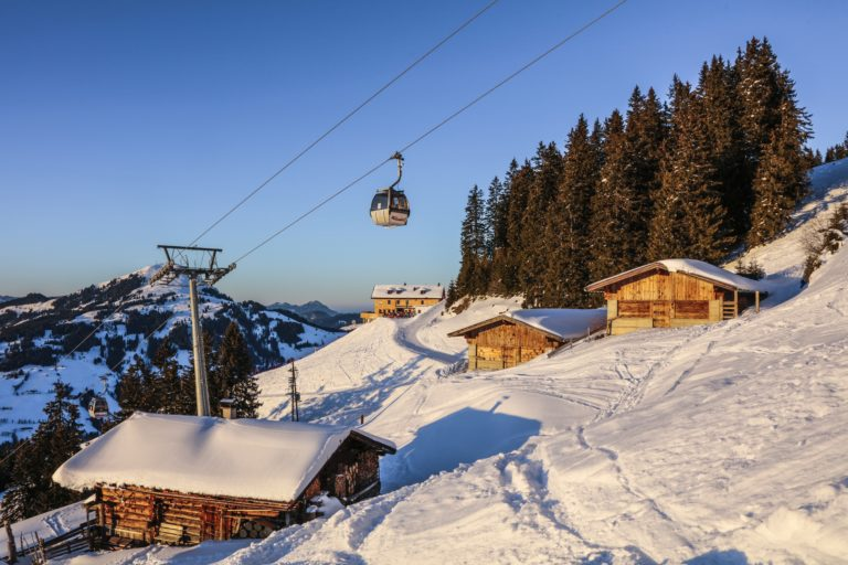Alpenrosenbahn, ski lift and gondola in Westendorf Austria