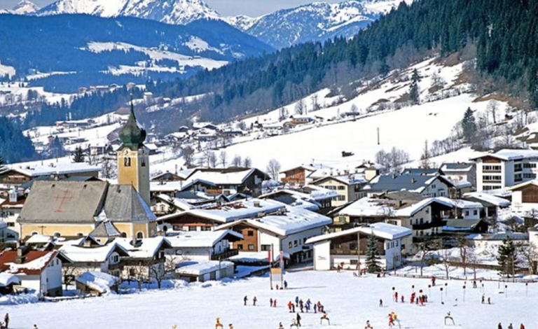 Snowscape of Westendorf village, Austria