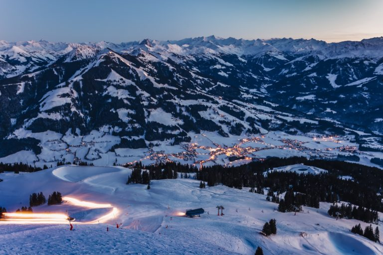 Night view of Westendorf from Schernthann