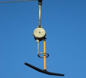 T-bar lift for skiers